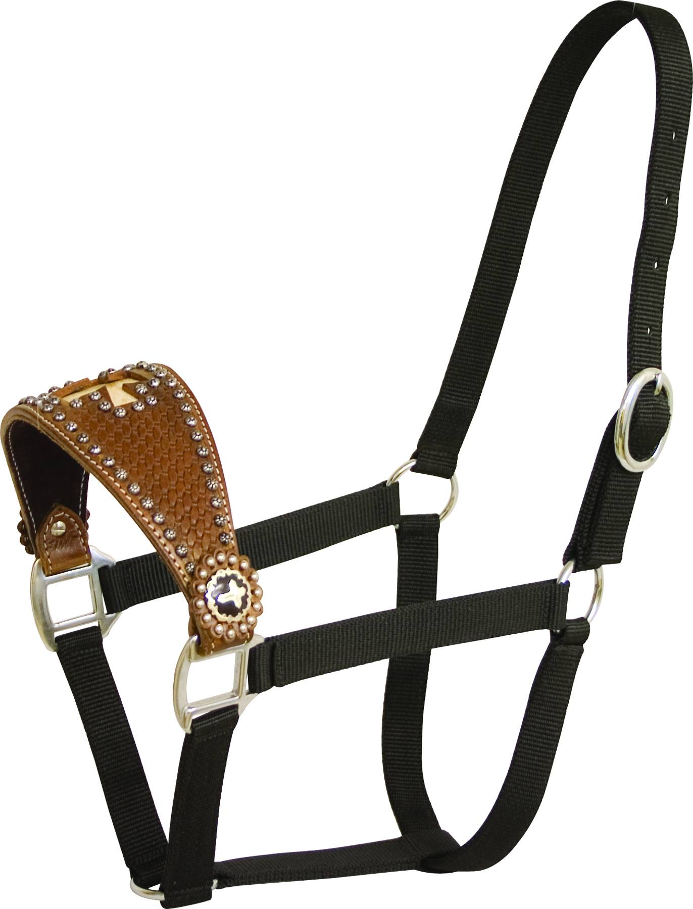 Abetta Halter with Wide Noseband with Cross Overlay