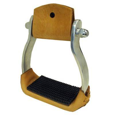 Coronet Aluminum Western Stirrups with Rubber Tread