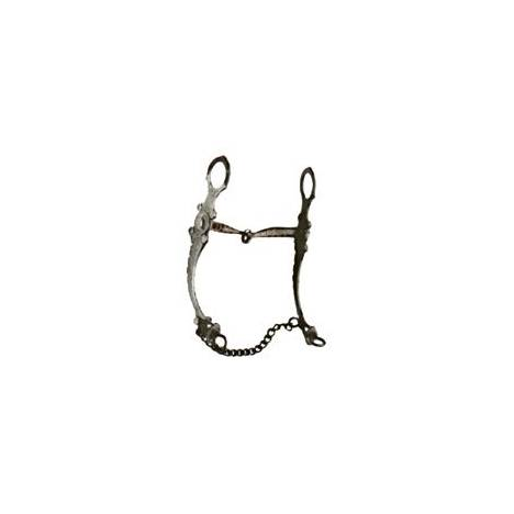 Coronet Black Snaffle with Engraved Cheeks Bit