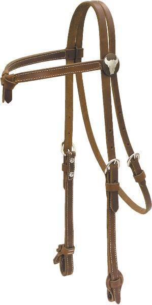 Cowboy Pro Antique Concho Headstall