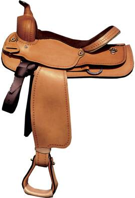 Circle P All Around Leather Saddle