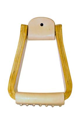 Metalab Roger Branch 4'' Wooden Roping Stirrups