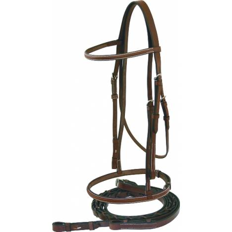 Abetta Raised English Snaffle Bridle with Reins