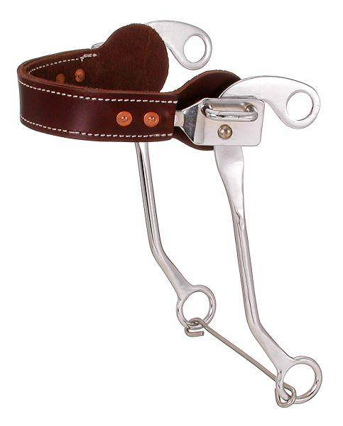 Kelly Silver Star Leather Nose Hackamore
