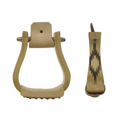 Metalab Wooden Stirrups with Motifs