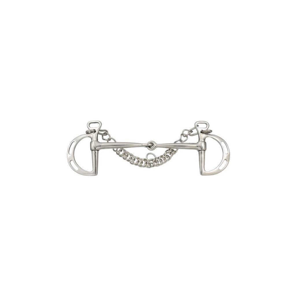 Kelly Silver Star Stainless Steel Slotted Kimberwicke Snaffle Bit