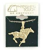 Finishing Touch Flat Thoroughbred Racer Necklace