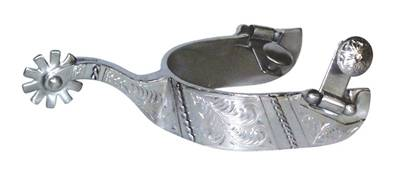 Francois Gauthier by Metalab Ladies' Stainless Steel Brushed Show Spurs