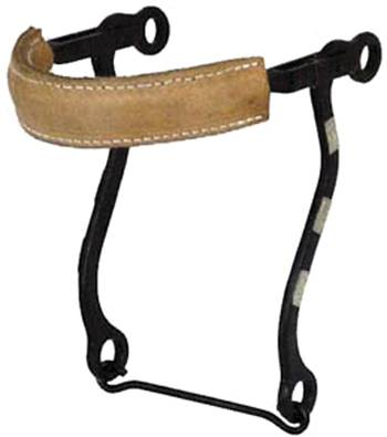 Metalab Black Satin Hackamore With Flat Leather NoseBand