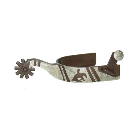 FG Collection by Metalab Mens Antique Reining Spurs