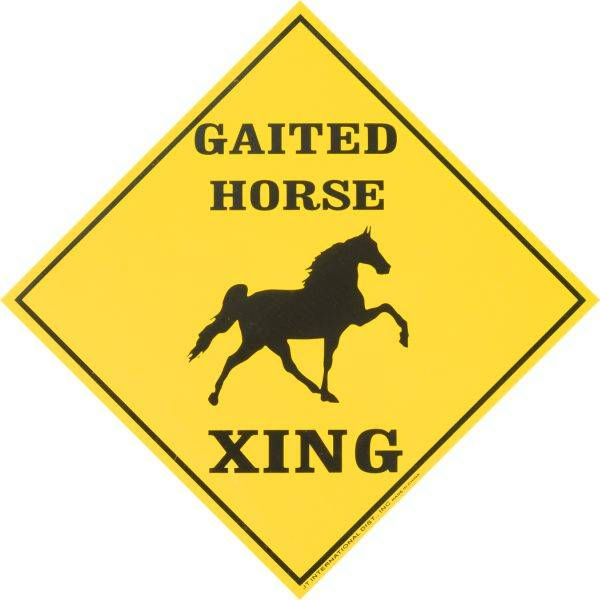 Gift Corral Horse Xing Gaited Caution Sign