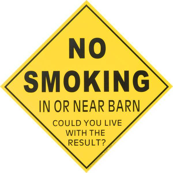 Gift Corral Caution No Smoking Caution Sign
