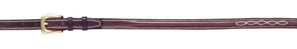 Raised Fancy Stitch Leather Riding Belt