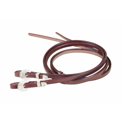 TORY LEATHER Partial Double & Stitched Reins - Oklahoma - Buckle Bit