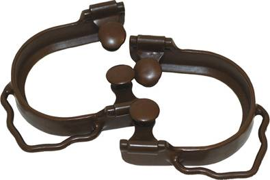 Barrel Collection Ladies' Antique Ridged Bumper Spurs