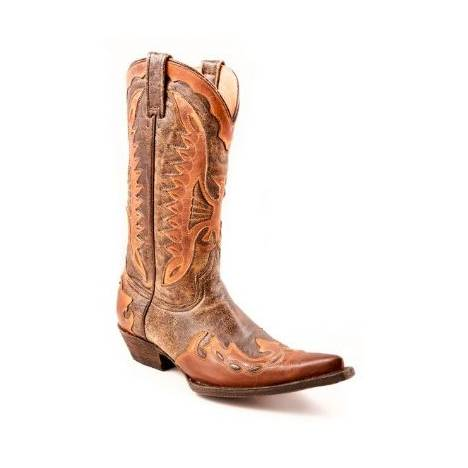 Stetson Eagle Overlay Boots - Ladies