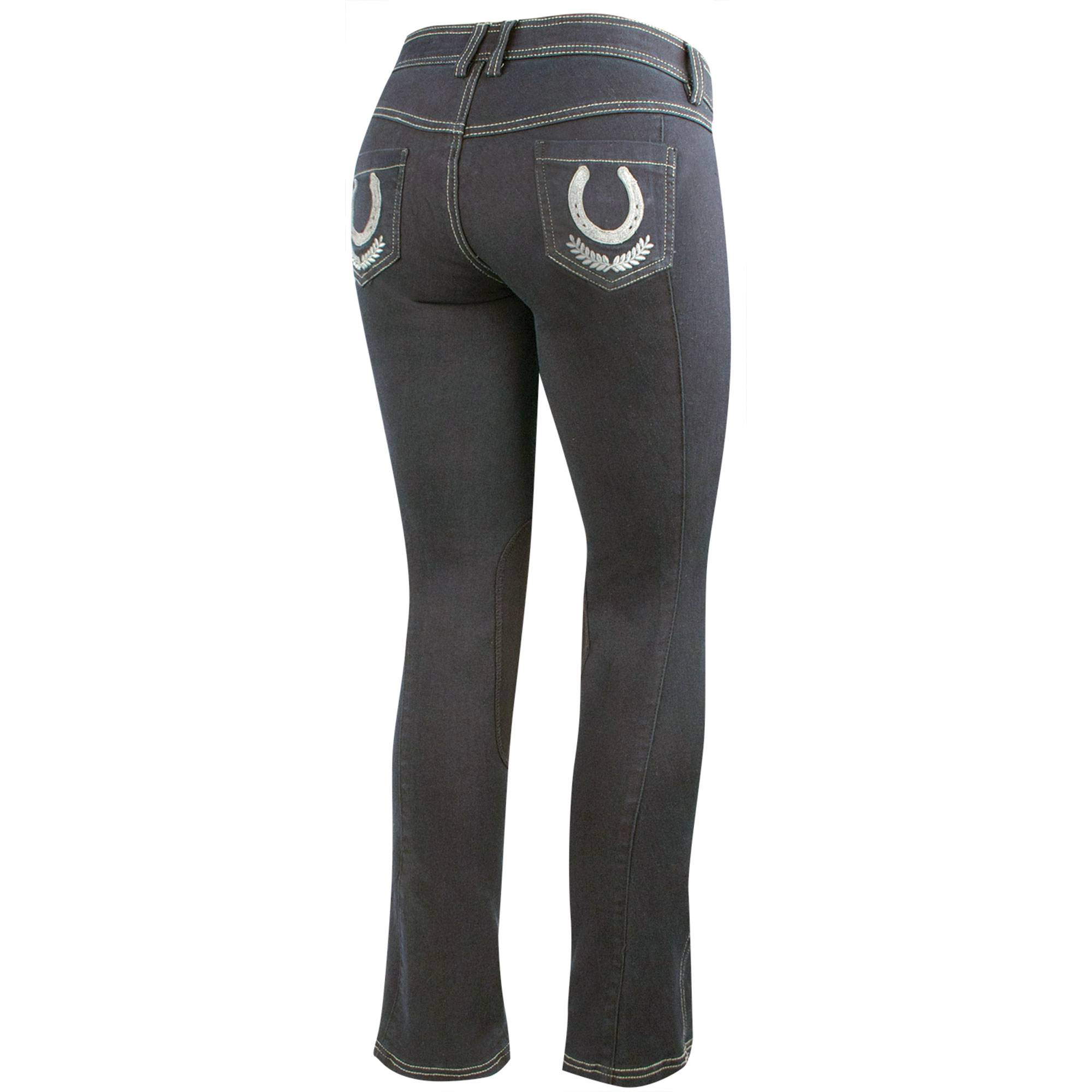Irideon Verano Stretch Denim Boot Cut Breech - Horseshoes