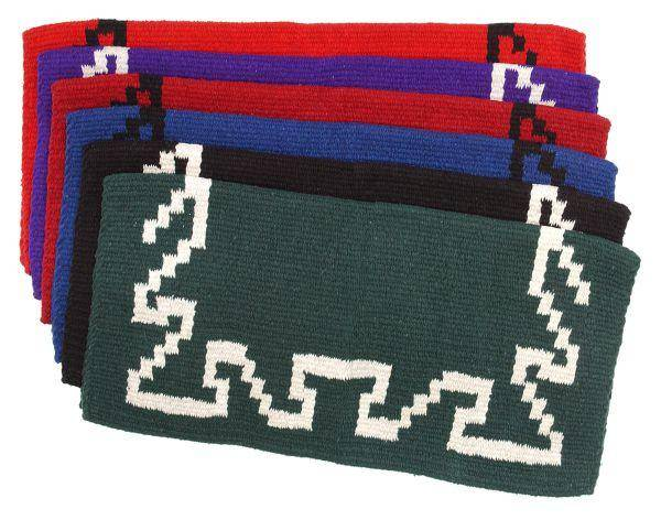 Tough-1 Black Hawk Double Weave Saddle Blanket