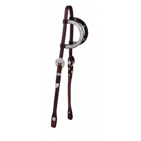 TORY LEATHER 5/8'' Double Ear Headstall with Full Ear Oklahoma Silver