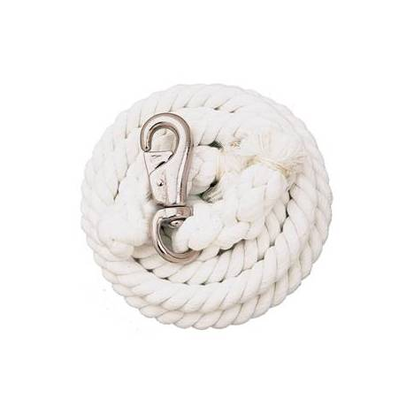 Weaver Cotton Lead Rope with Nickel Plated Bull Snap