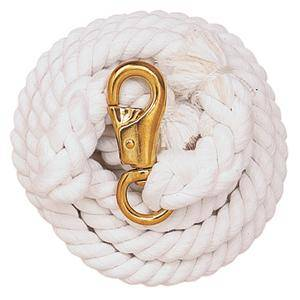 Weaver Cotton Lead Rope with Solid Brass Bull Snap