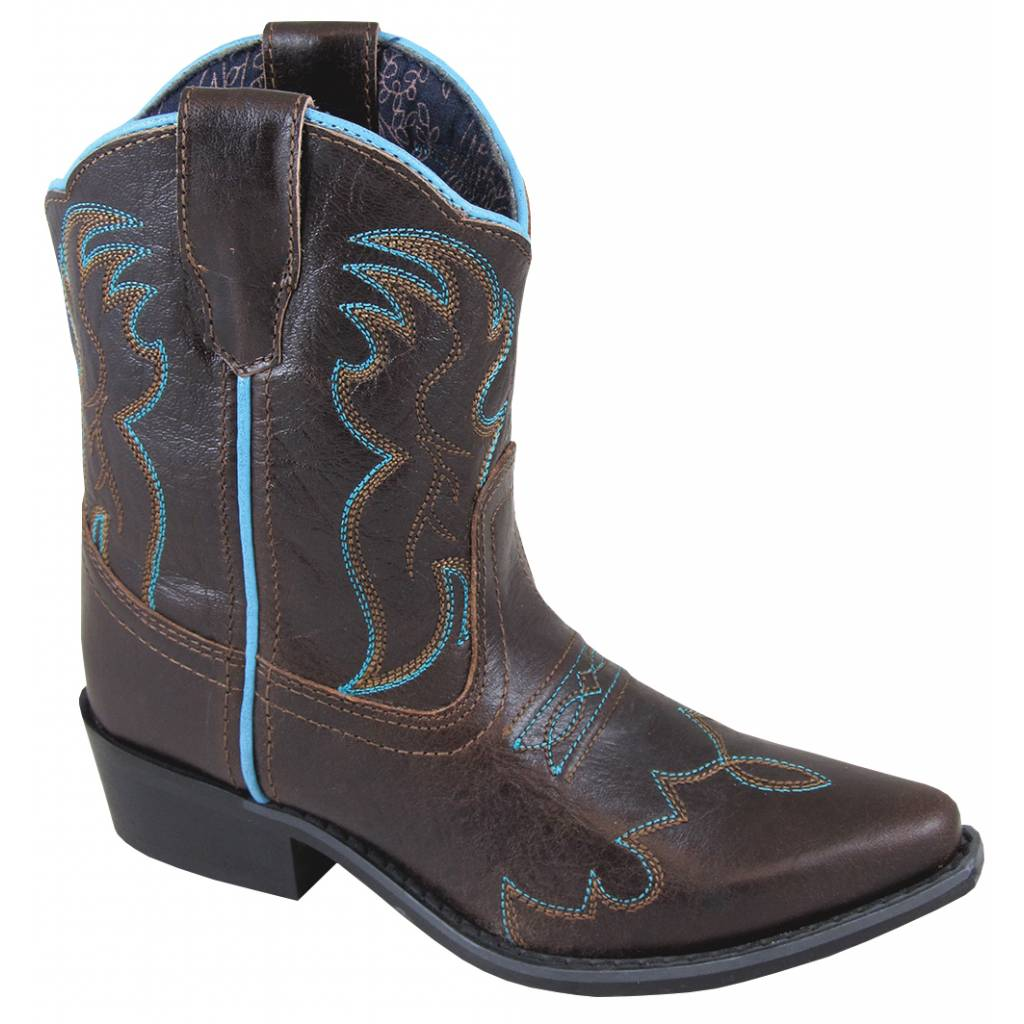 Smoky Mountain Childrens Juniper Boots - Brown/Turquoise