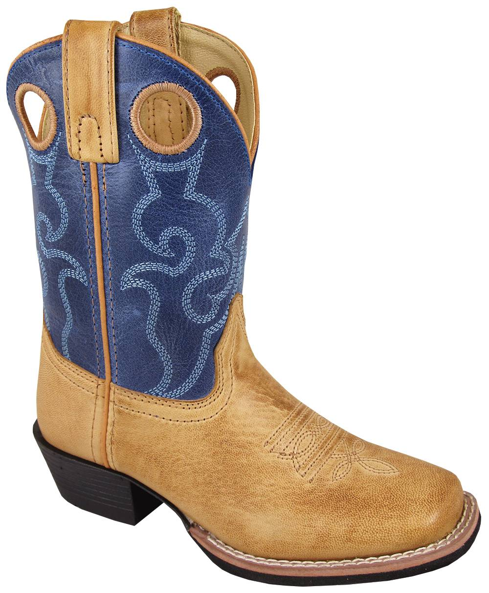 Smoky Mountain Youth Clint Boots - Tan/Blue