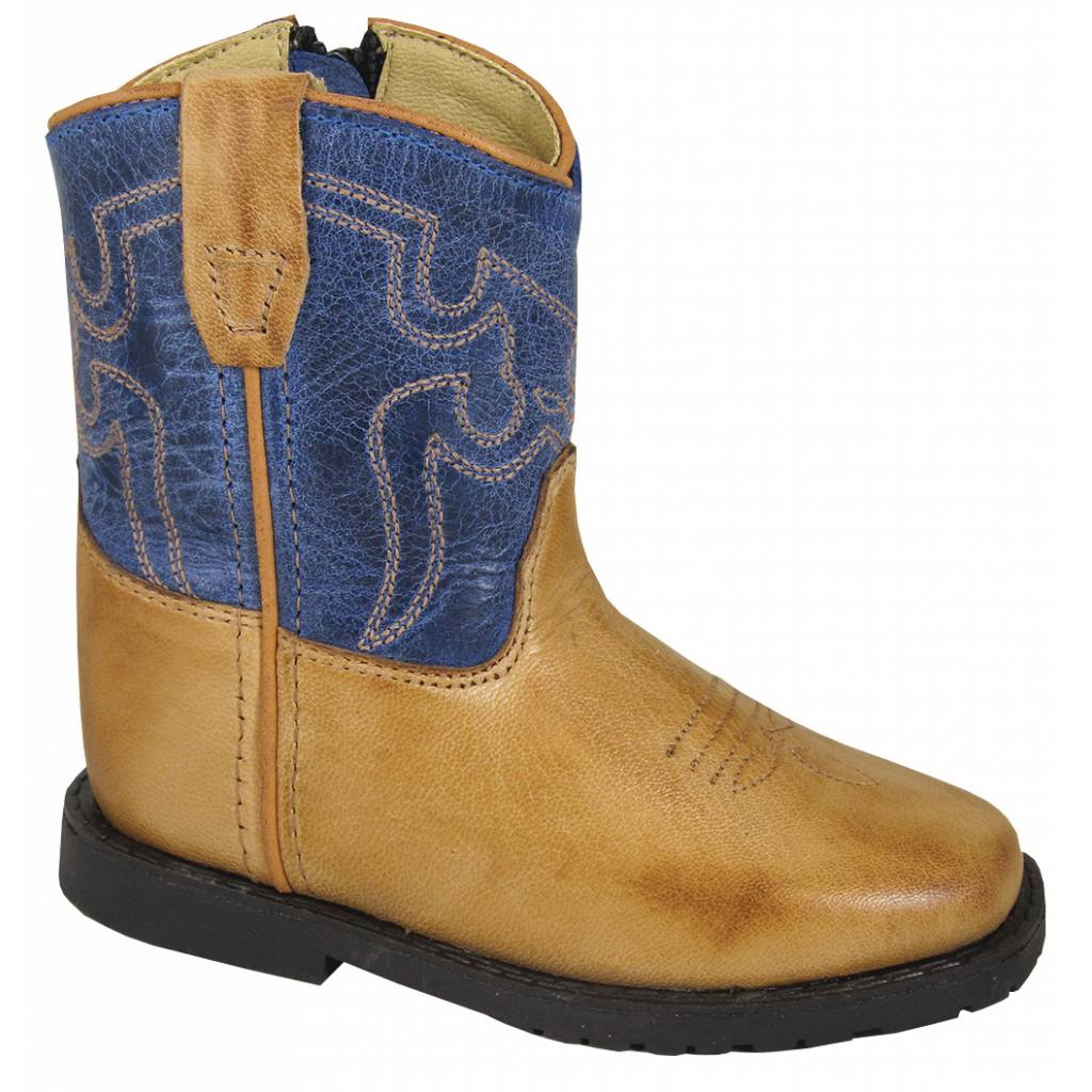 Smoky Mountain Toddler Autry Boots - Tan/Blue