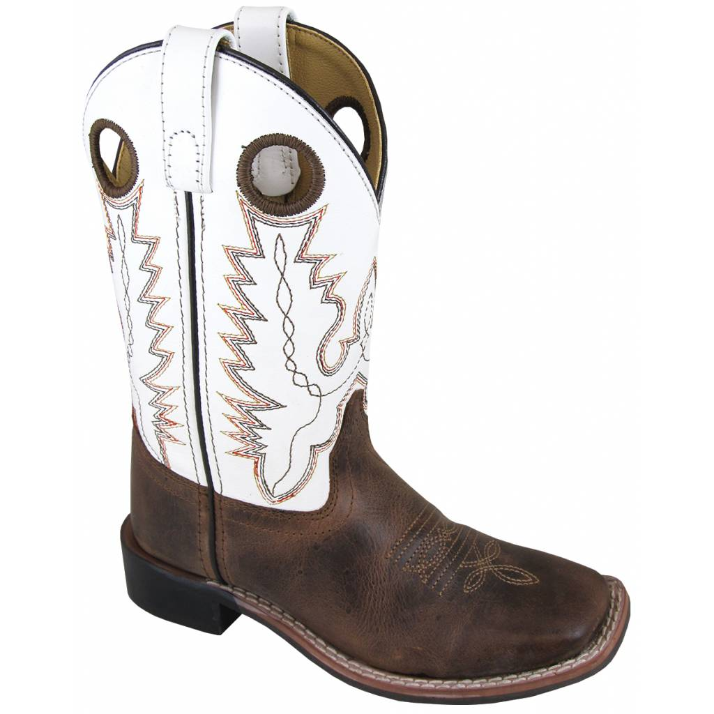 Smoky Mountain Childrens Jesse Boots - Brown/White
