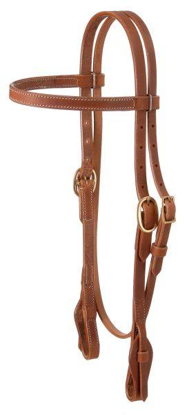 Harness Leather Quick Change Straight Brow Training Headstall