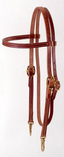 Royal King Harness Browband Headstall with Snaps