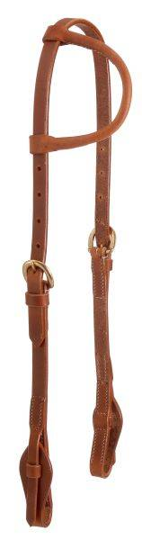 Harness Leather Quick Change Single Ear Training Headstall