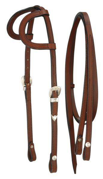 Royal King Double Ear Headstall with Silver Buckles
