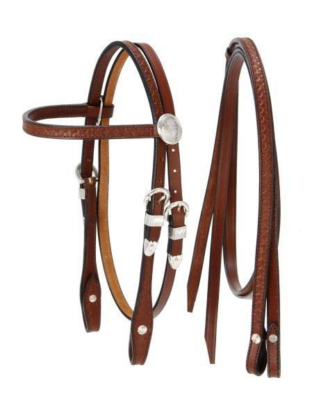 King Series Miniature Browband Headstall with Silver