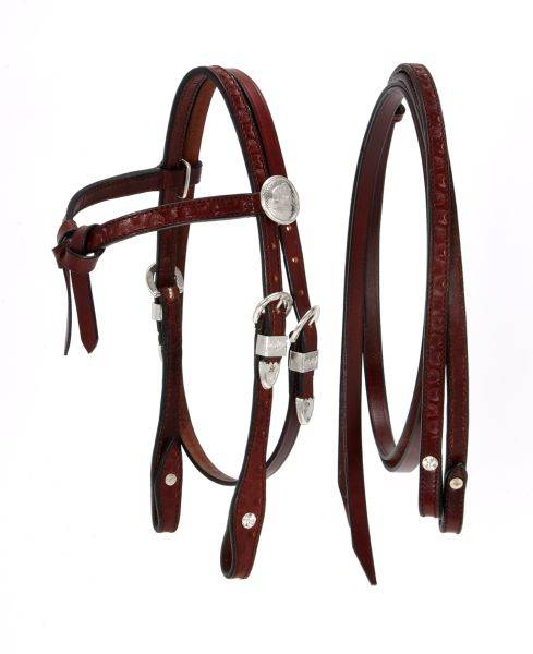King Series Miniatureature Futurity Brow Headstall with Silver