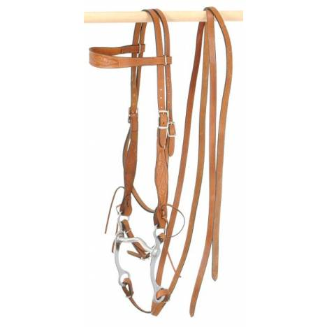 King Series Horse Embossed Browband Headstall