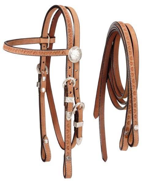 Horse Roughout Browband Bridle