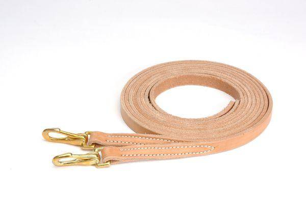 Royal King Harness Leather Reins with Snap Ends