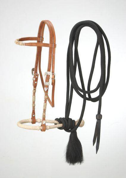 Royal King Brow band Headstall Bosal/Mecate Set