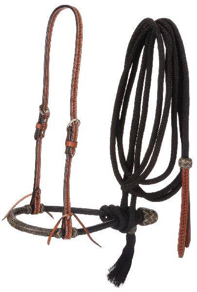 Tough-1 Basketweave Bosal Hanger, Bosal & Cord Mecate