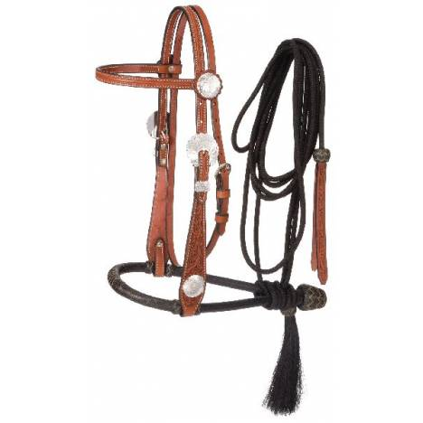 Tough-1 Floral Wide Cheek Bosal Set