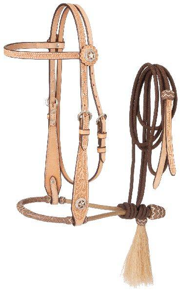 Tough-1 Wide Cheek Floral Bosal
