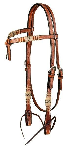 Futurity Headstall With Braided Rawhide