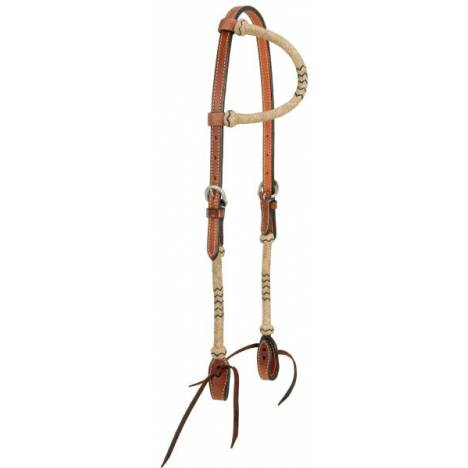 Single Ear Headstall With Braided Rawhide