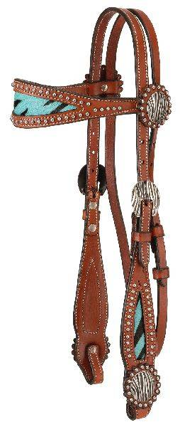 Tough-1 Western Headstall with Hair Browband