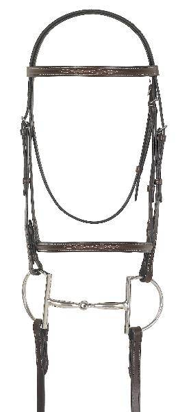 CamelotGold Fancy Raised Bridle with Laced Reins