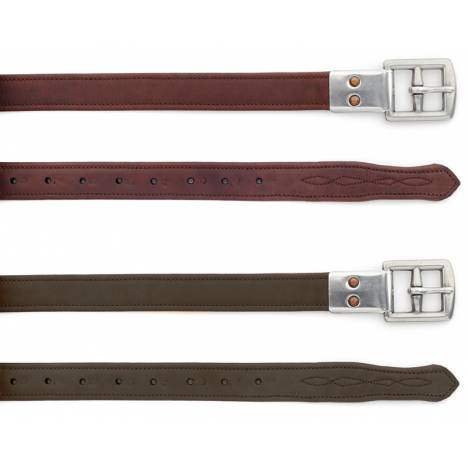 Ovation Covered Stirrup Leathers with Metal Clasp