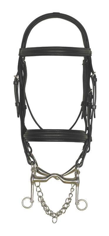 PDS Double Bridle w- Hook Studs