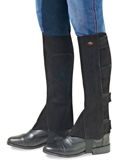 EquiStar Kids Suede V-Tab Half Chaps