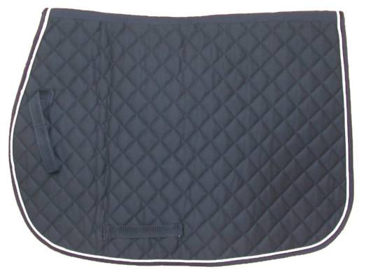 Square Quilted English Saddle Pad